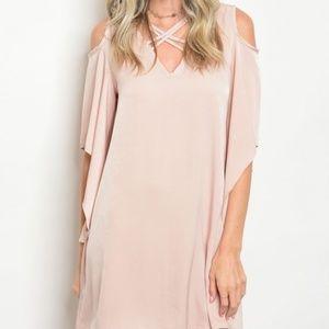 Dresses & Skirts - Blush cold shoulder dress